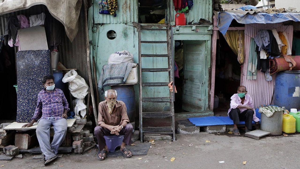 Bidonville de Dharavi, Bombay, le 3 avril 2020.
