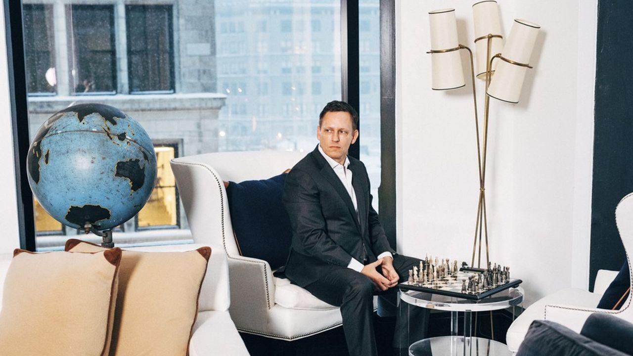 Le milliardaire Peter Thiel, principal actionnaire via son fonds Founders Fund, à New York en janvier 2017.