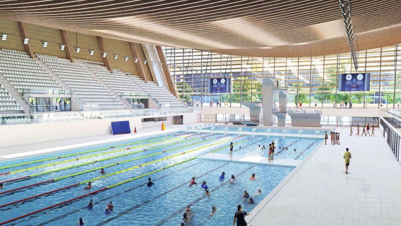 L'originalité du projet de Bouygues est d'installer des murs mobiles pour varier la configuration des bassins