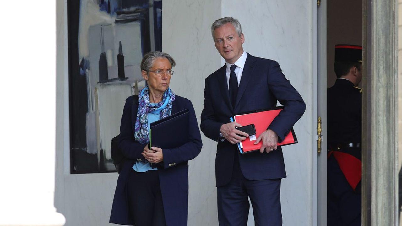 Les ministres Elisabeth Borne et Bruno Le Maire.