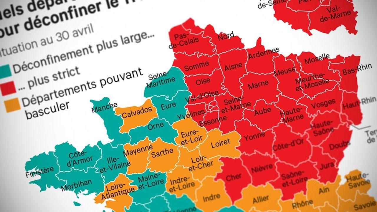 Deconfinement Plus De 30 Departements Dans Le Rouge Les Echos