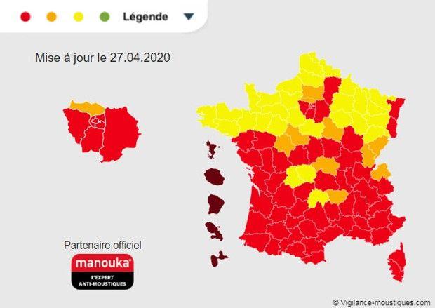 moustique tigre carte 2020 Le moustique tigre est de retour en France | Les Echos