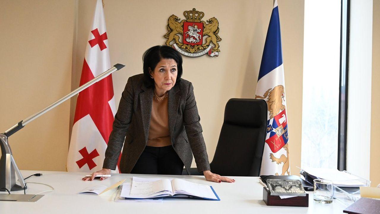 Salome Zourabichvili, présidente de Géorgie.