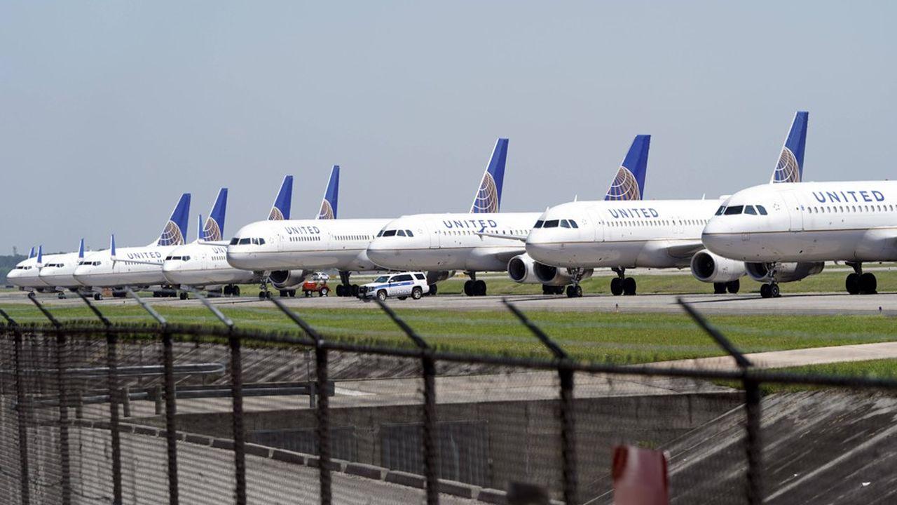 Du fait de l'épidémie de coronavirus, United Airlines a réduit de 90% ses plans de vols jusqu'au mois de juin
