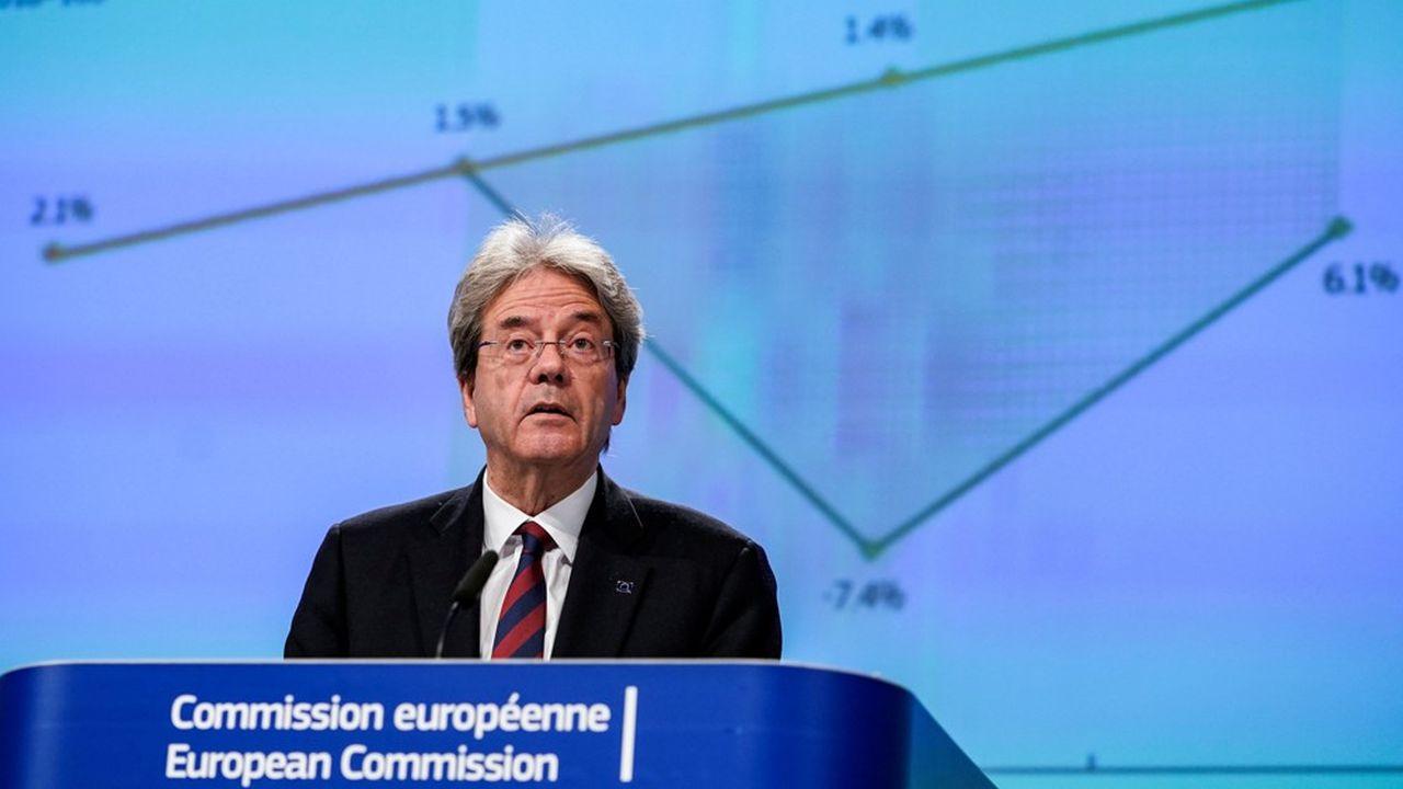 Le commissaire européen aux affaires économiques, Paolo Gentiloni.
