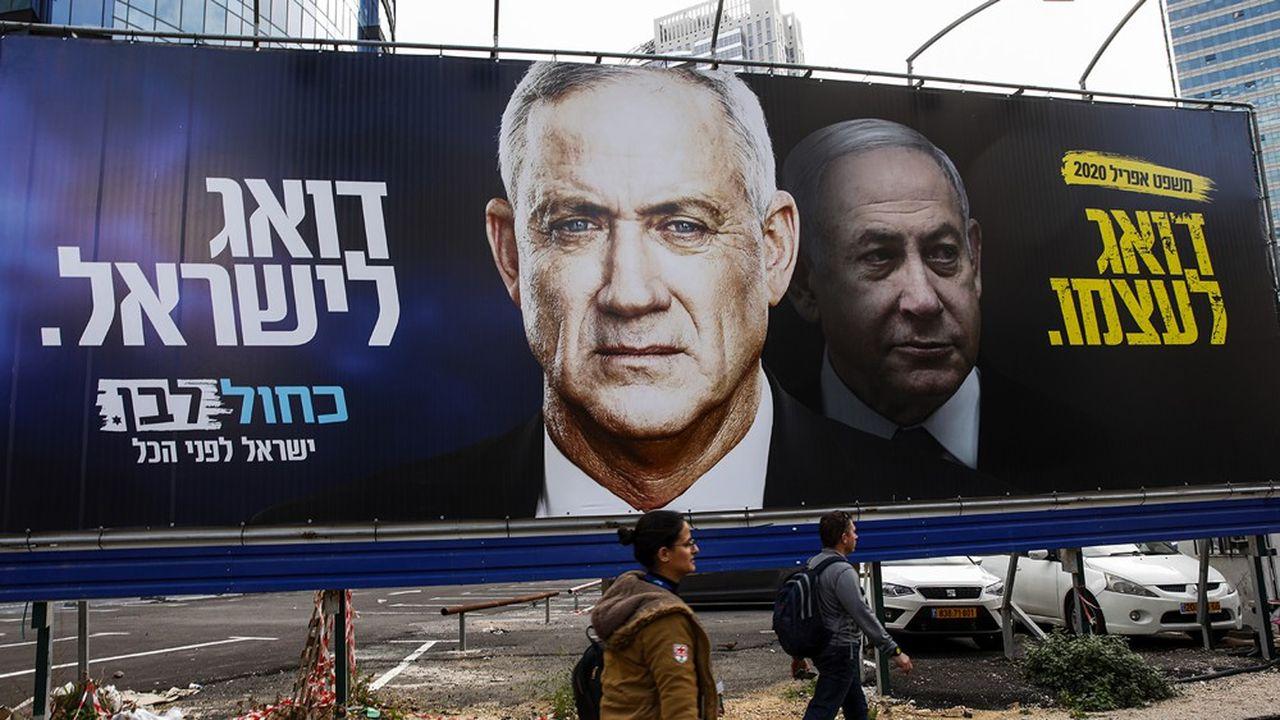 Les dernières élections législatives, en mars, n'avaient pas permis de départager Benny Gantz, chef de file du parti Kahol Lavan (Bleu et Blanc) et le premier ministre Benjamin Netanyahu, à la tête du Likoud