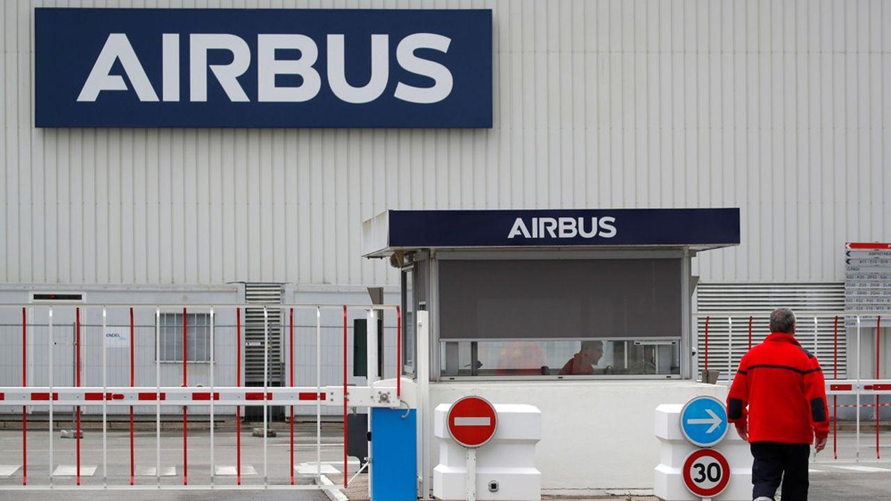 Plusieurs sites d'Airbus en France, dont celui de Nantes sur la photo, ont déjà recours au chômage partiel.