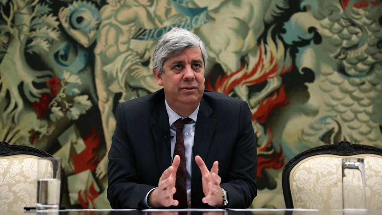 Mario Centeno, le ministre des Finances du Portugal, également président de l'Eurogroupe.