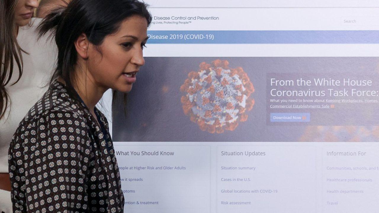 Katie Miller, la conseillère presse du vice-président Mike Pence, a été testée positive au Covid-19 la semaine dernière.