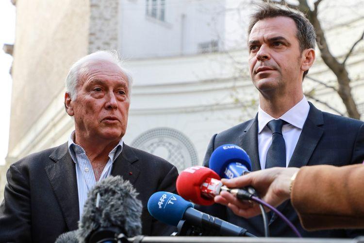 Jean-François Delfraissy, le président du Conseil scientifique, et Olivier Véran, le ministre de la Santé.