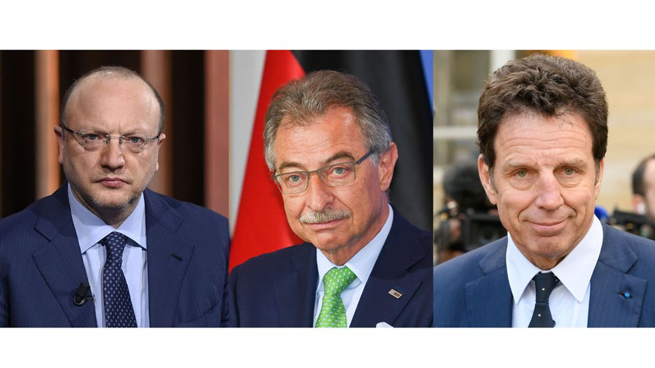 Vincenzo Boccia, Dieter Kempf et Geoffroy Roux de Bézieux