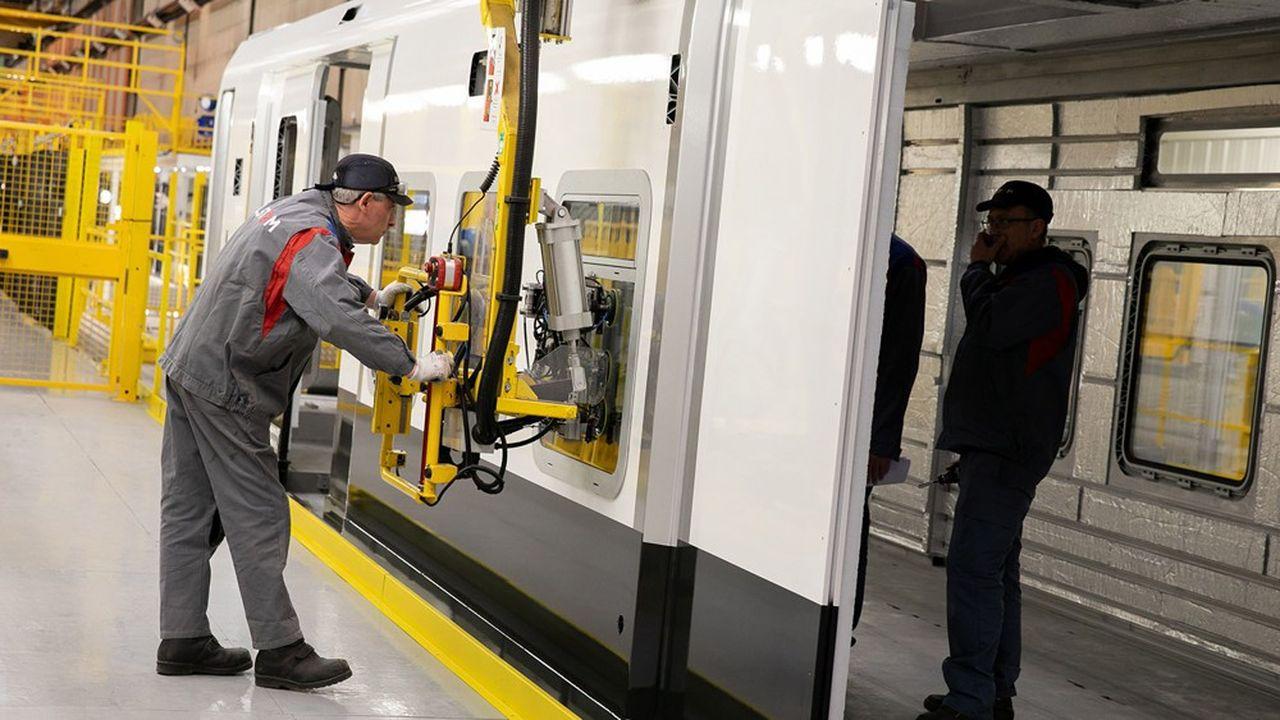 Dans les sites industriels d'Alstom comme ici à Valenciennes, la production a repris début mai.