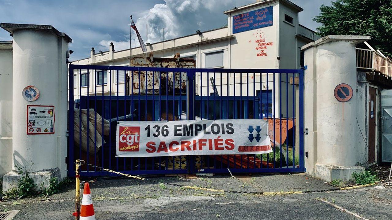 Entrée de l'usine Luxfer à Gerzat (Puy-de-Dôme), avril 2020.