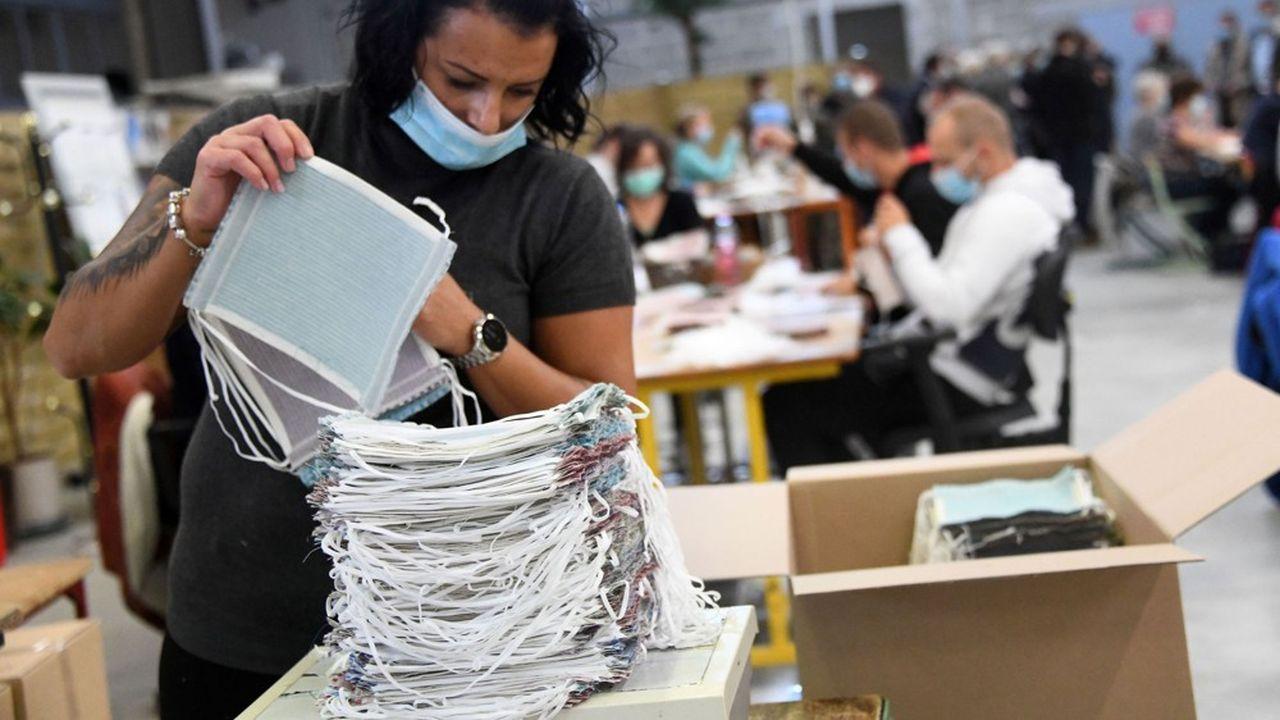 Depuis le début de la crise du coronavirus, le dispositif de prêt de main d'oeuvre a été utilisé par exemple dans la communauté d'agglomération Roissy Pays de France (ci-dessus une usine dans le Haut-Rhin).