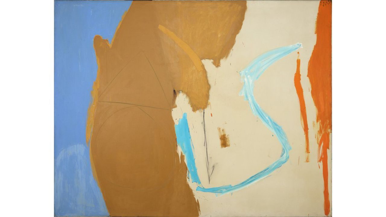 Robert Motherwell (1915-1991) California 1959 Oil and charcoal on canvas 177.2 x 227.3 cms (69 3/4 x 89 1/2 ins) RM13307 P193 Provenance: Sidney Janis Gallery, New York Collection of William Rubin, New York, 1961 Mr. and Mrs. Frederick R. Mayer, 1983 Christie's, New York, November 3, 1987, lot 30, illus. Private collection, ca. 1987
