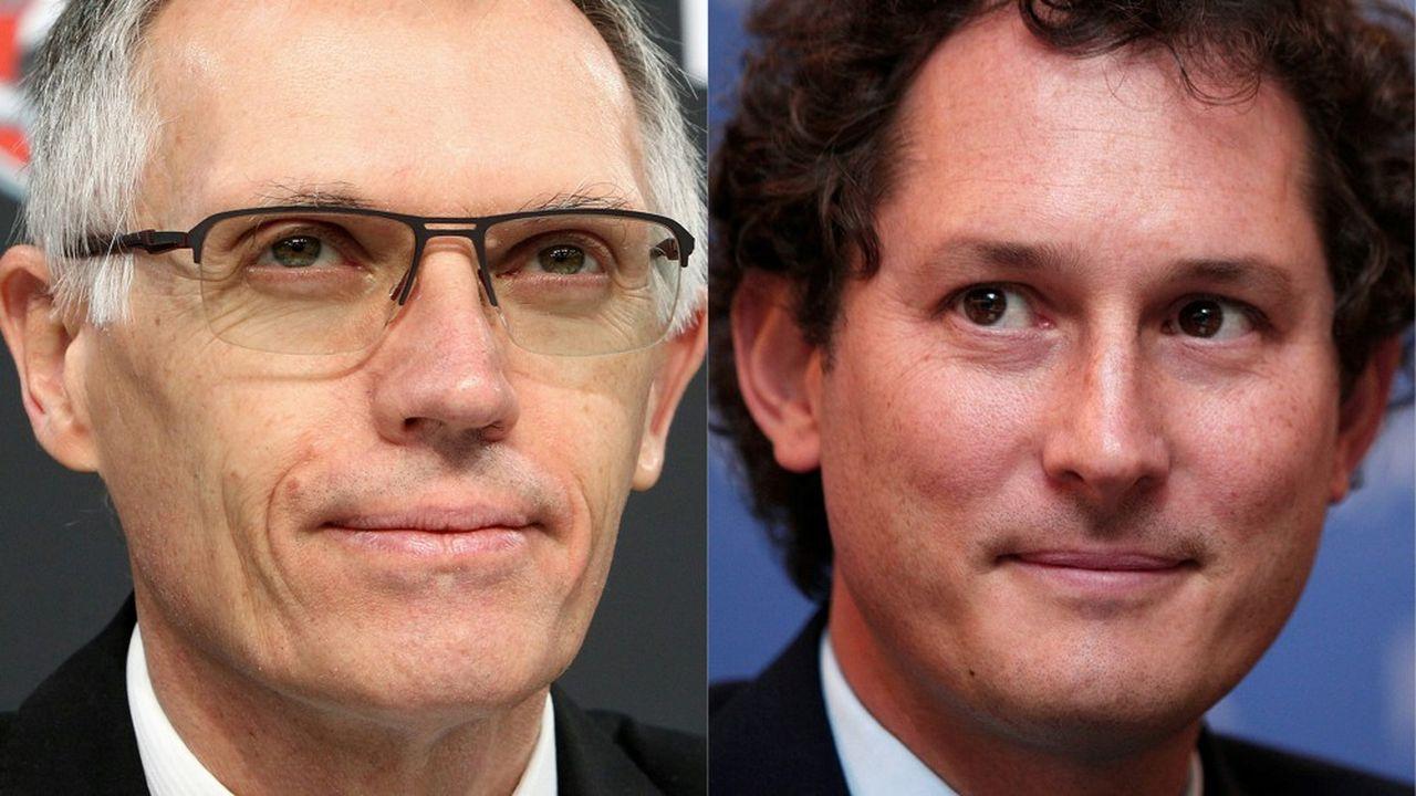 Pour Carlos Tavares, président du directoire de PSA, et John Elkann, président de FCA, la fusion à 50/50 des deux constructeurs reste stratégique.