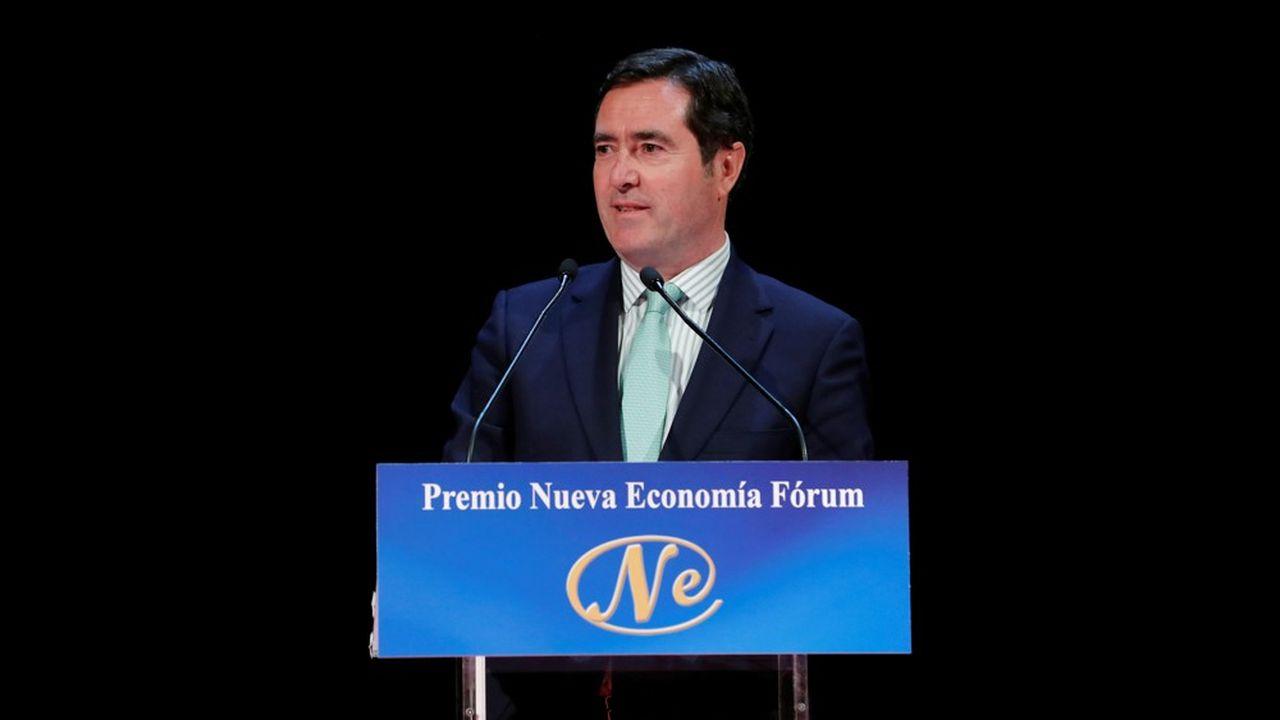 Antonio Garamendi, le président de la confédération des employeurs et des industries d'Espagne (CEOE), l'équivalent du Medef en France.