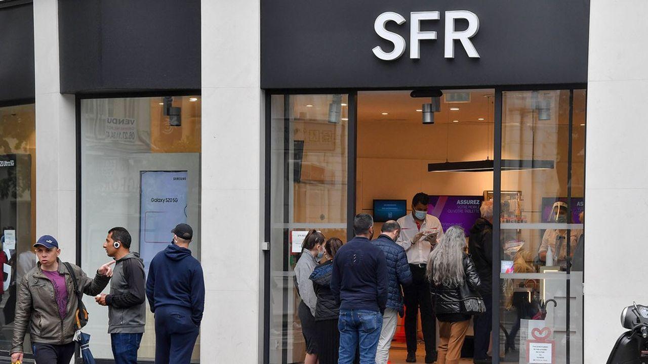 200boutiques SFR ont rouvert en début de semaine, elles seront 400 ce vendredi puis 640 en juin.