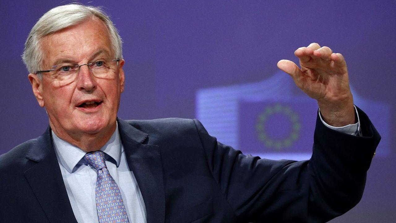 Michel Barnier, le négociateur en chef des Européens, lors de sa conférence de presse, vendredi 15mai.