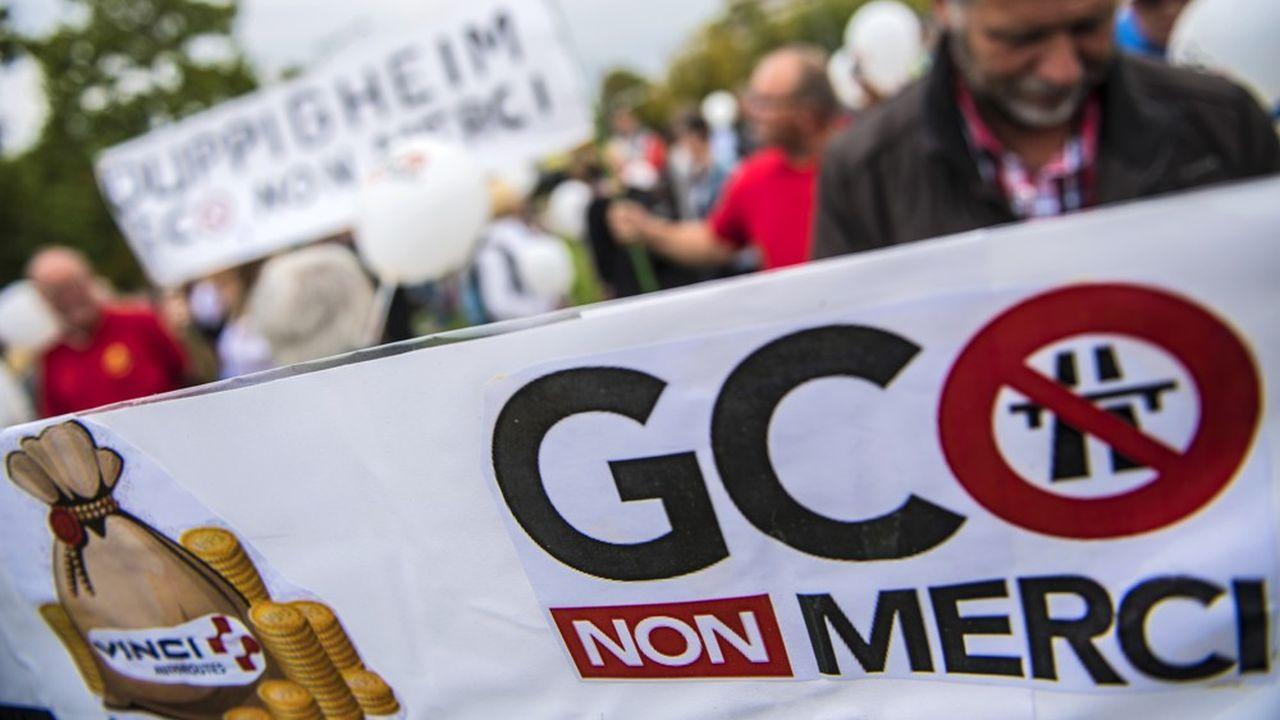 Le 30 septembre 2017, des manifestants s'étaient mobilisés contre le projet Grand Contournement Ouest.