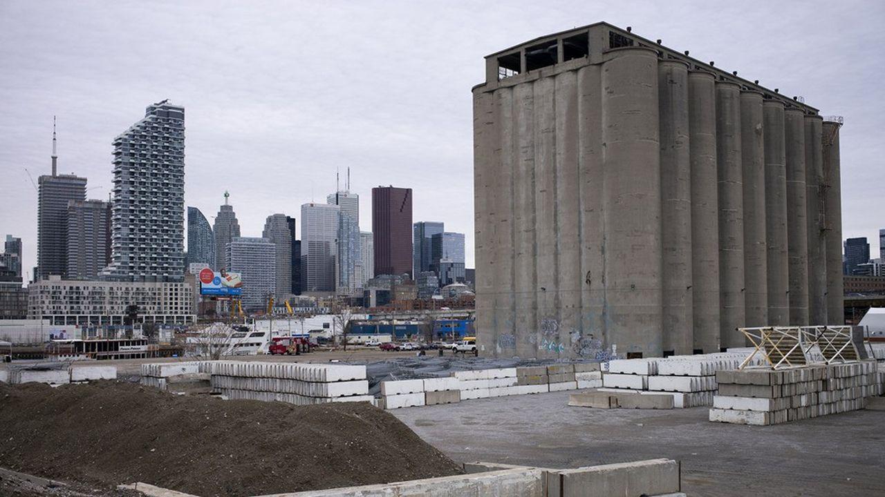 La friche industrielle Quayside, à Toronto, devait accueillir une «smart city» portée par Sidewalk Labs, une filiale d'Alphabet, la maison mère de Google.
