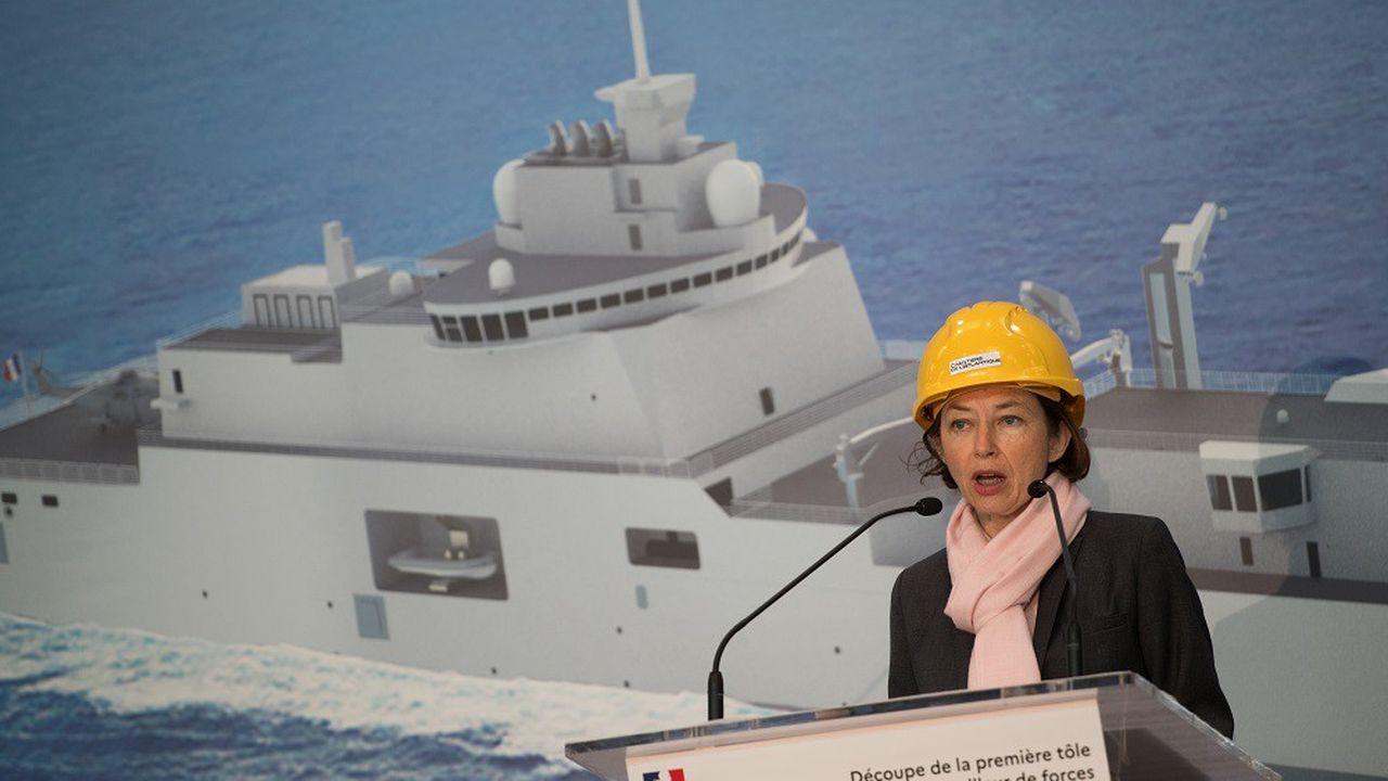 Le futur porte-avions français sera construit à Saint-Nazaire, où la ministre des Armées Florence Parly était en visite lundi matin.