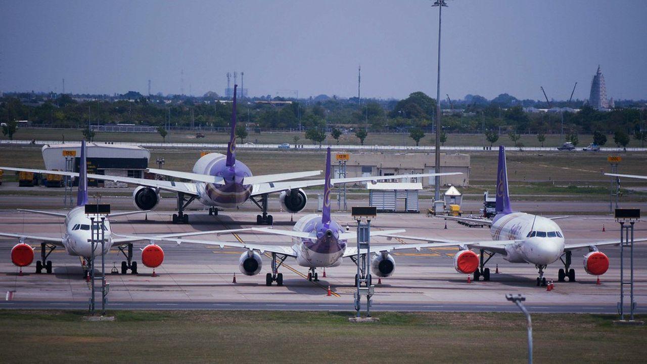 Cloués au sol depuis al fin mars, une partie des avions de Thai Airways ne revoleront probablement pas.