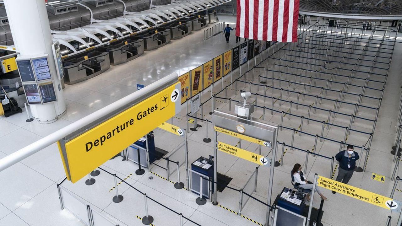 La situation du secteur aérien américain reste très fragile en raison de la pandémie de Covid-19 (photo: à l'aéroport JFK de New York).