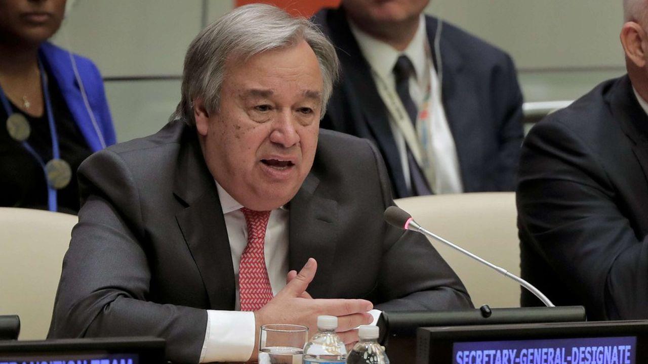 Antonio Guterres, le secrétaire général des Nation-Unis, s'exprimant mardi au siège de l'institution internationale, à New-York.
