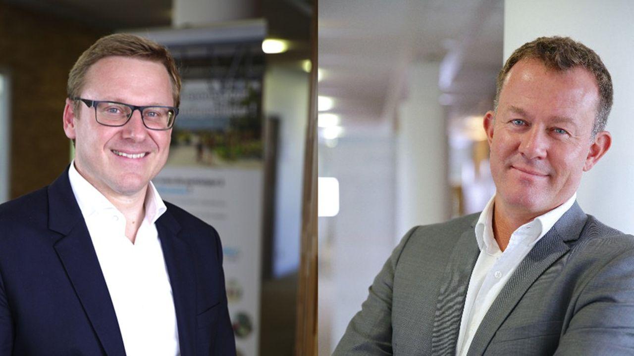 Edouard Michel, directeur des ressources humaines de Manutan, et Grégoire Koudrine,directeur de la chaîne logistique du groupe.