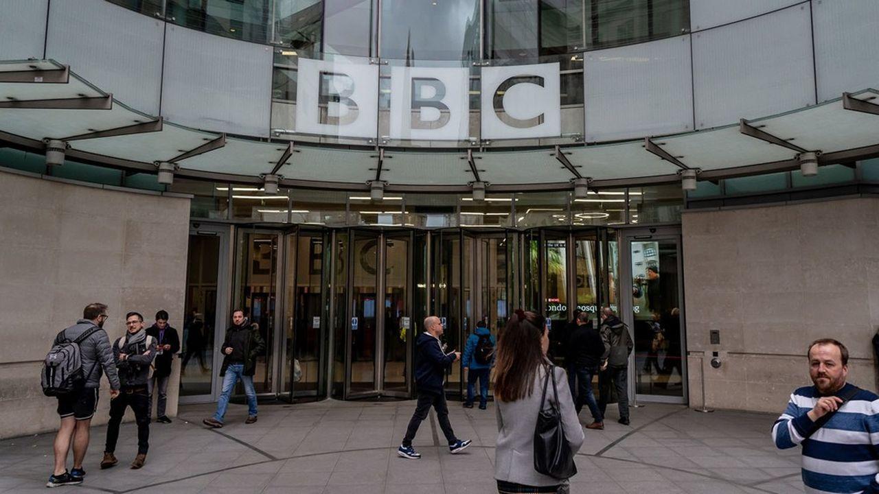 L'entrée du siège de la BBC à Londres.