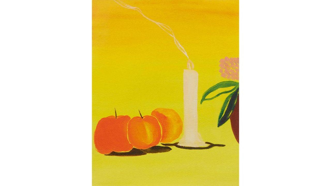 Cette oeuvre de Matthew Wong a été cédée lors de la dernière vente on line d'art contemporain de Sotheby's pour62 500 dollars.