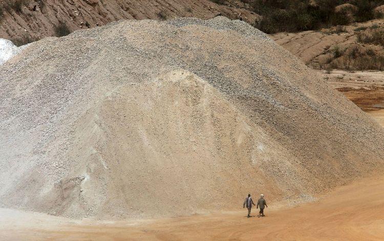 Mine de ciment de Dangote à Obajana (novembre 2010)