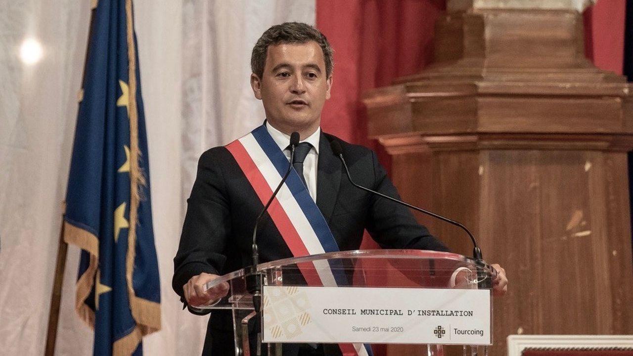 Gérald Darmanin a été élu maire de Tourcoing samedi par le conseil municipal de la ville.