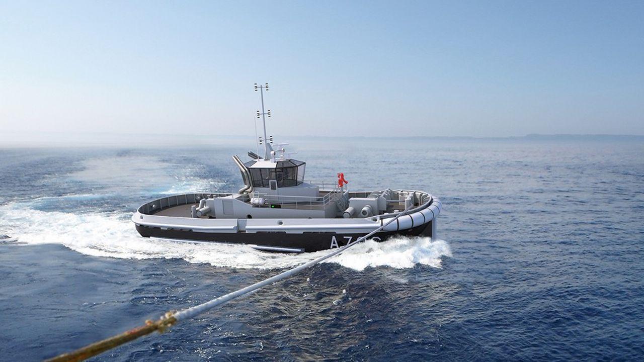 Ces bateaux disposent d'une puissance de traction de 35 tonnes pour assister les navires et les sous-marins de la Marine.