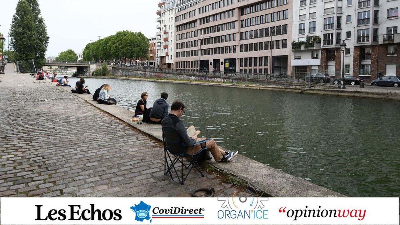 Le canal Saint Martin, à Paris, le 16mai dernier.