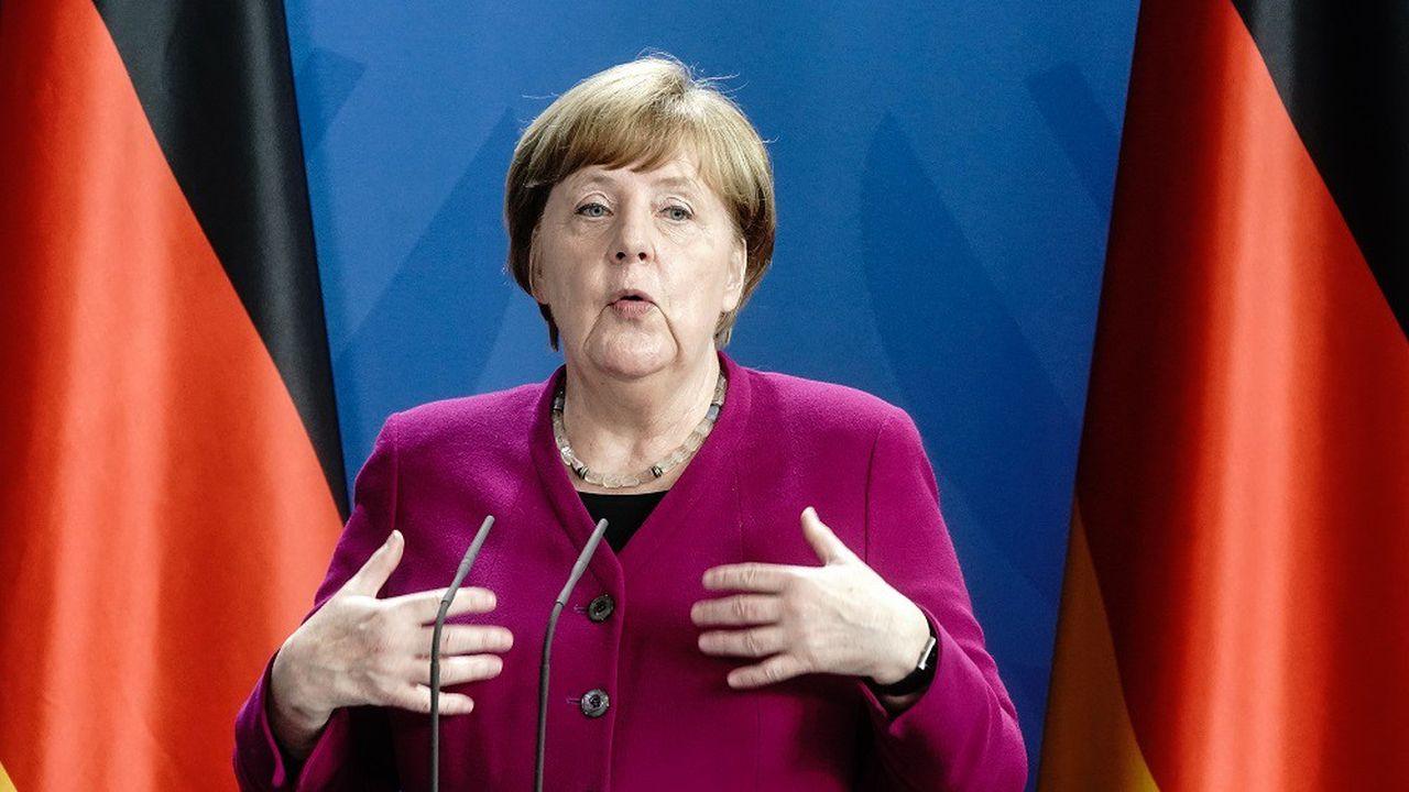 Angela Merkel doit discuter cette semaine avec les 16 régions allemandes d'une prolongation des règles de distanciation physique.
