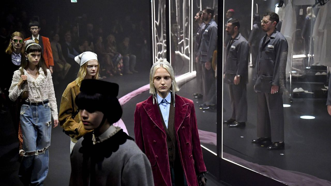 Le défilé en février à Milan à la Fashion Week automne-hiver 2020-2021, dernier rendez-vous classique de Gucci.