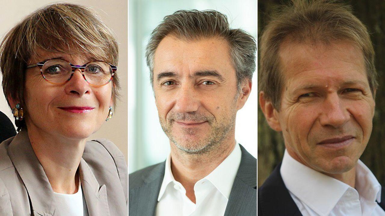 Catherine Rivière (IFPEN), Olivier Perrin (Monitor Deloitte) et Jean-Marc Jancovici (The Shift Project).