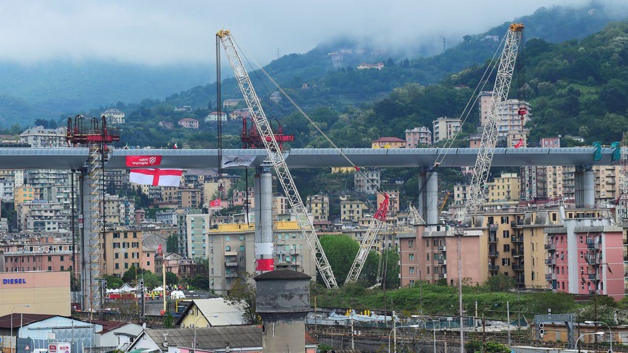 Le nouveau pont de Gênes.