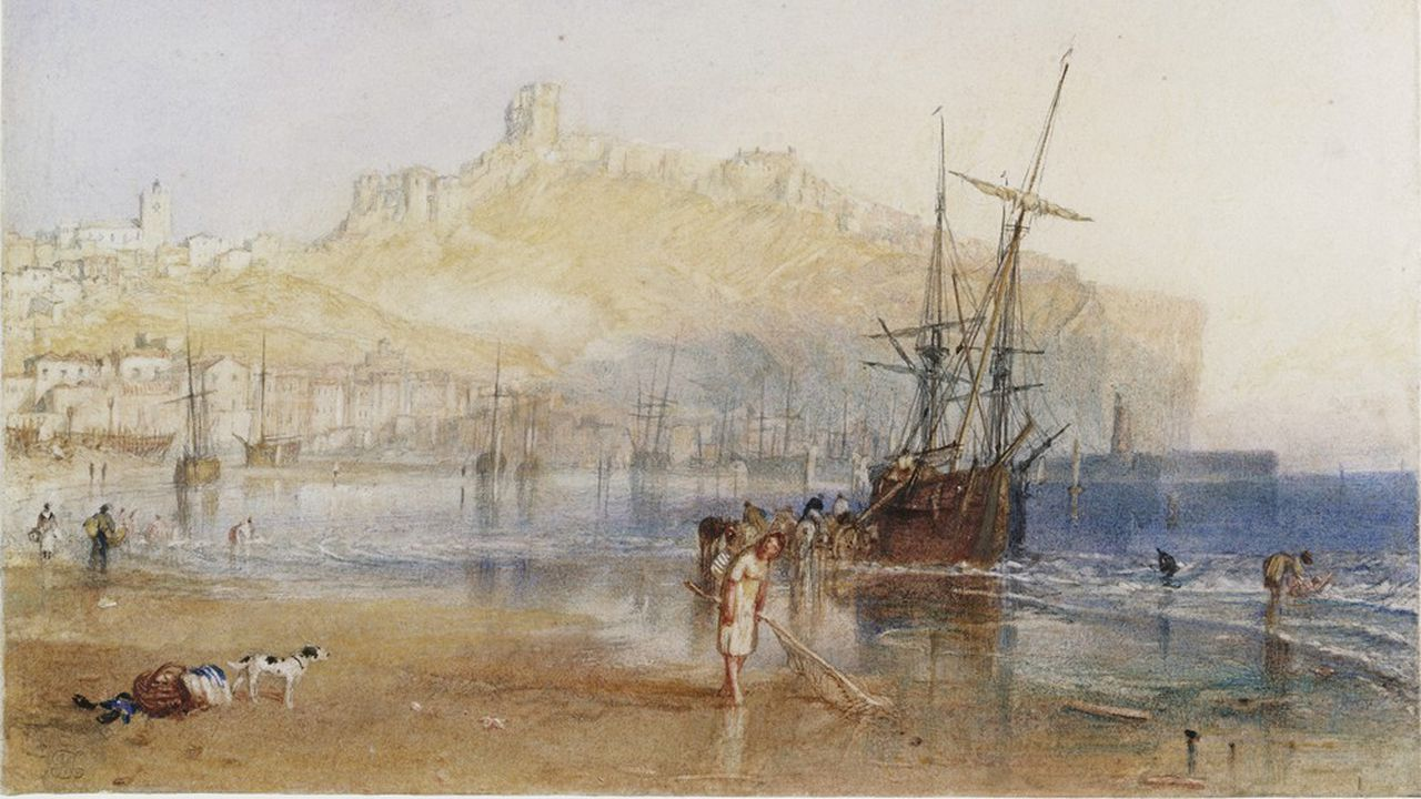 «Ports of England», Watercolours, Scarborough vers 1825