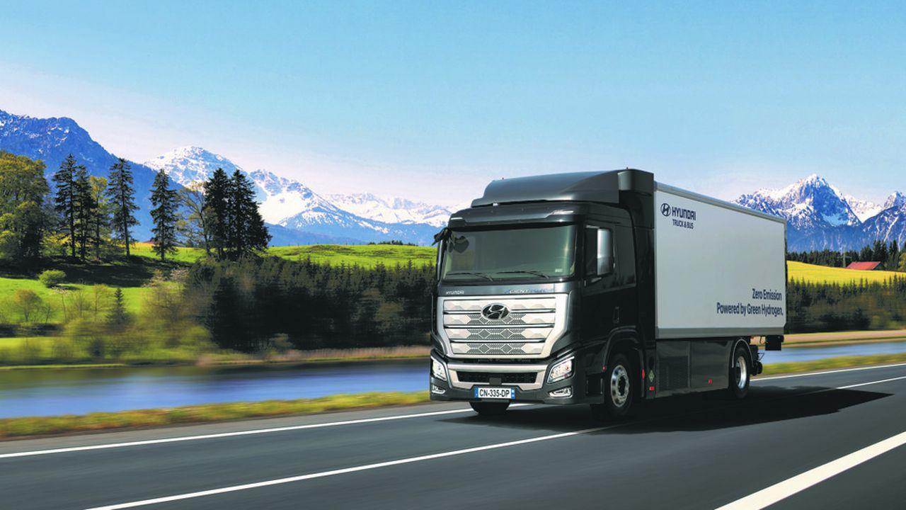 Le poids lourd Hyundai H2 Xcient Fuel-Cell est un véhicule zéro émission à hydrogène.
