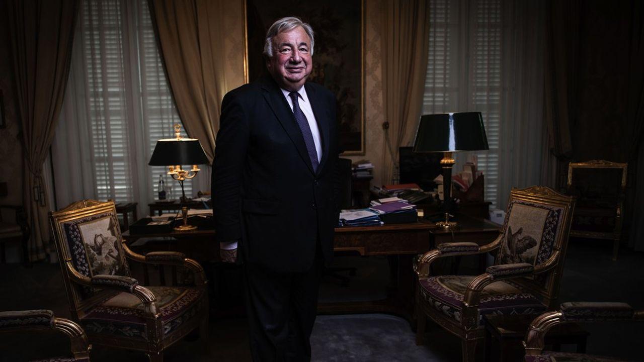 Elu LR des Yvelines, Gérard Larcher est présidentdu Sénat, ce qui en fait letroisième personnage de l'Etat dans l'ordre protocolaire.