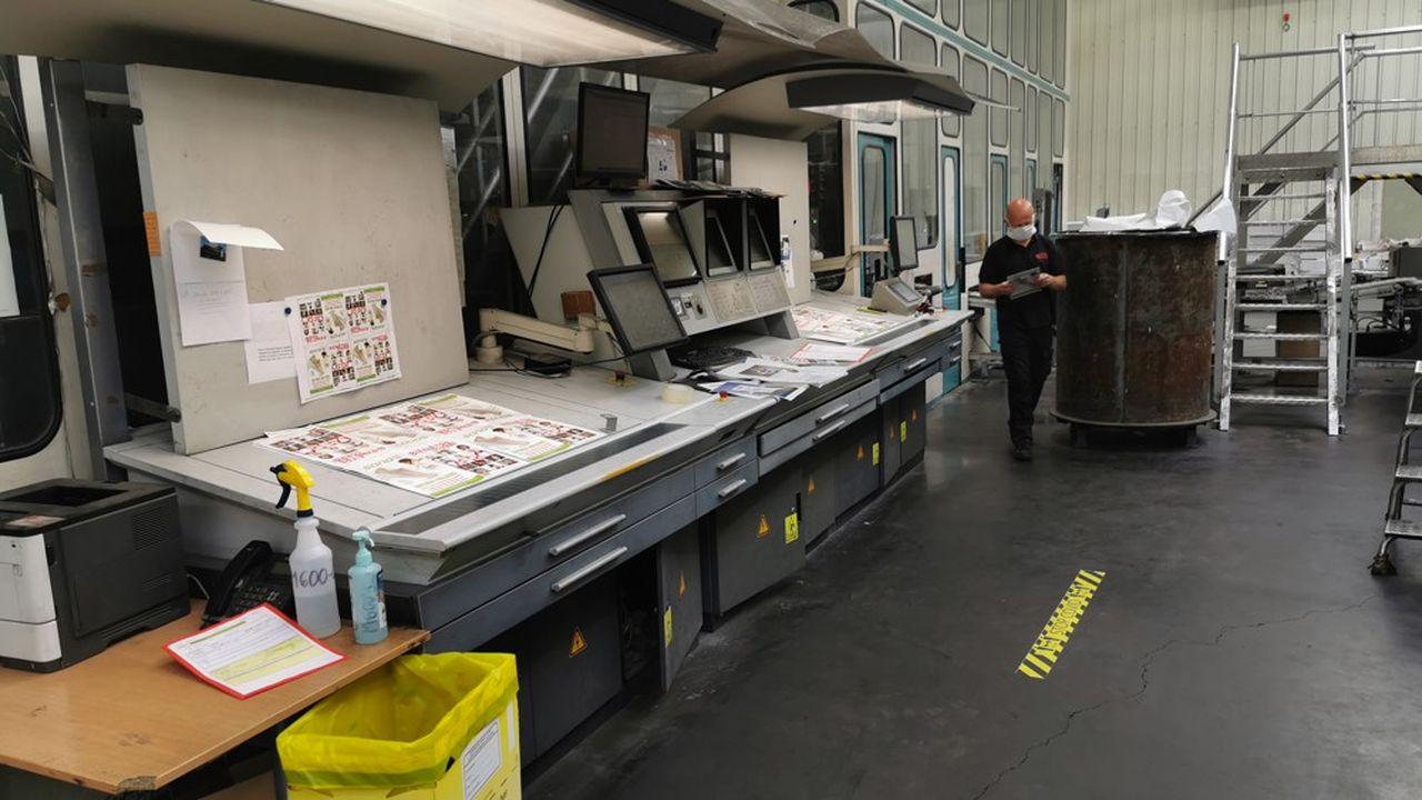 Festivals, édition, commerces, les principaux clients de l'imprimeur ont pris la crise de plein fouet.