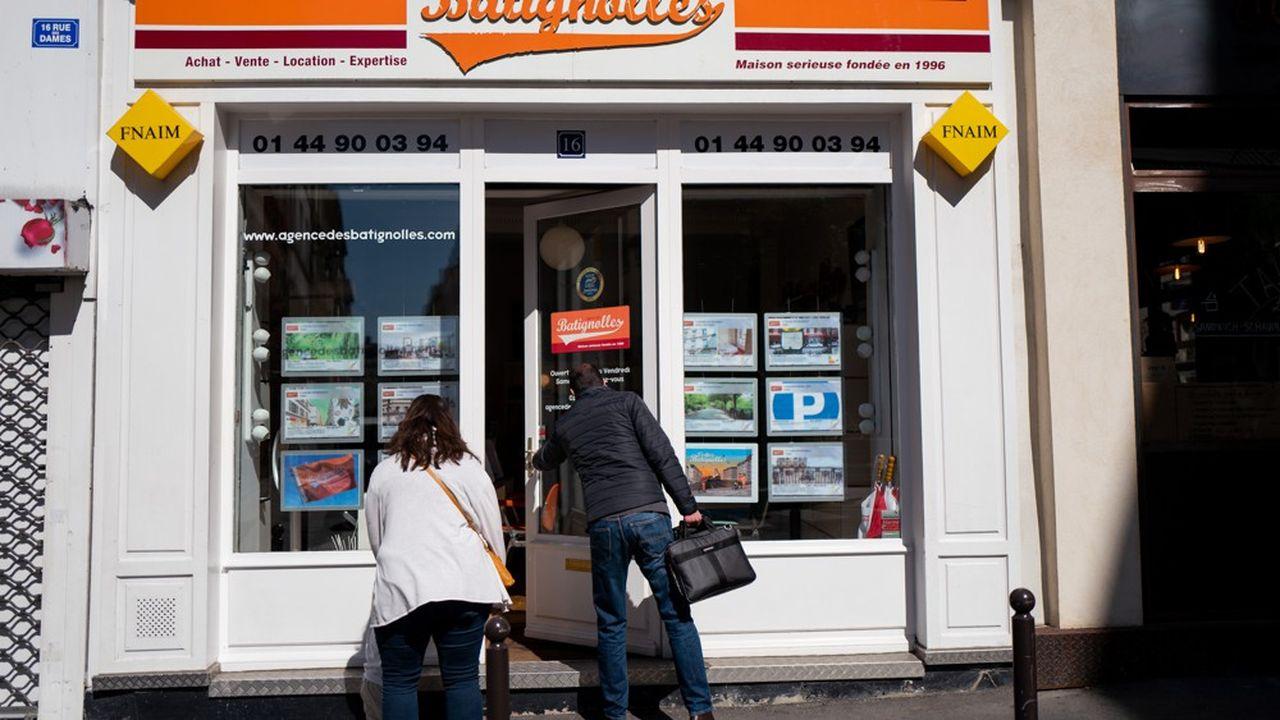 La clientèle a fait son retour dans les agences immobilières.