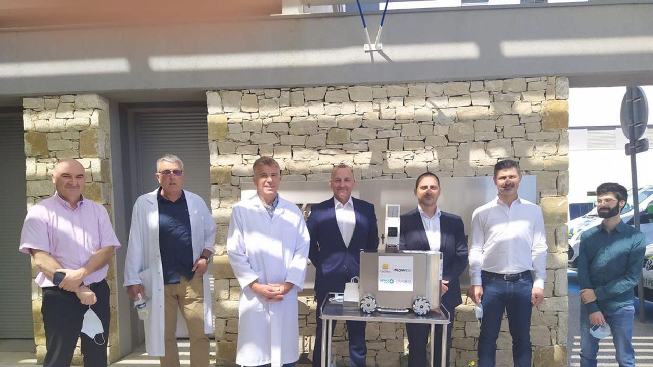 Le 25mai, le robot a été testé au centre hospitalier de Bagnols-sur-Cèze.