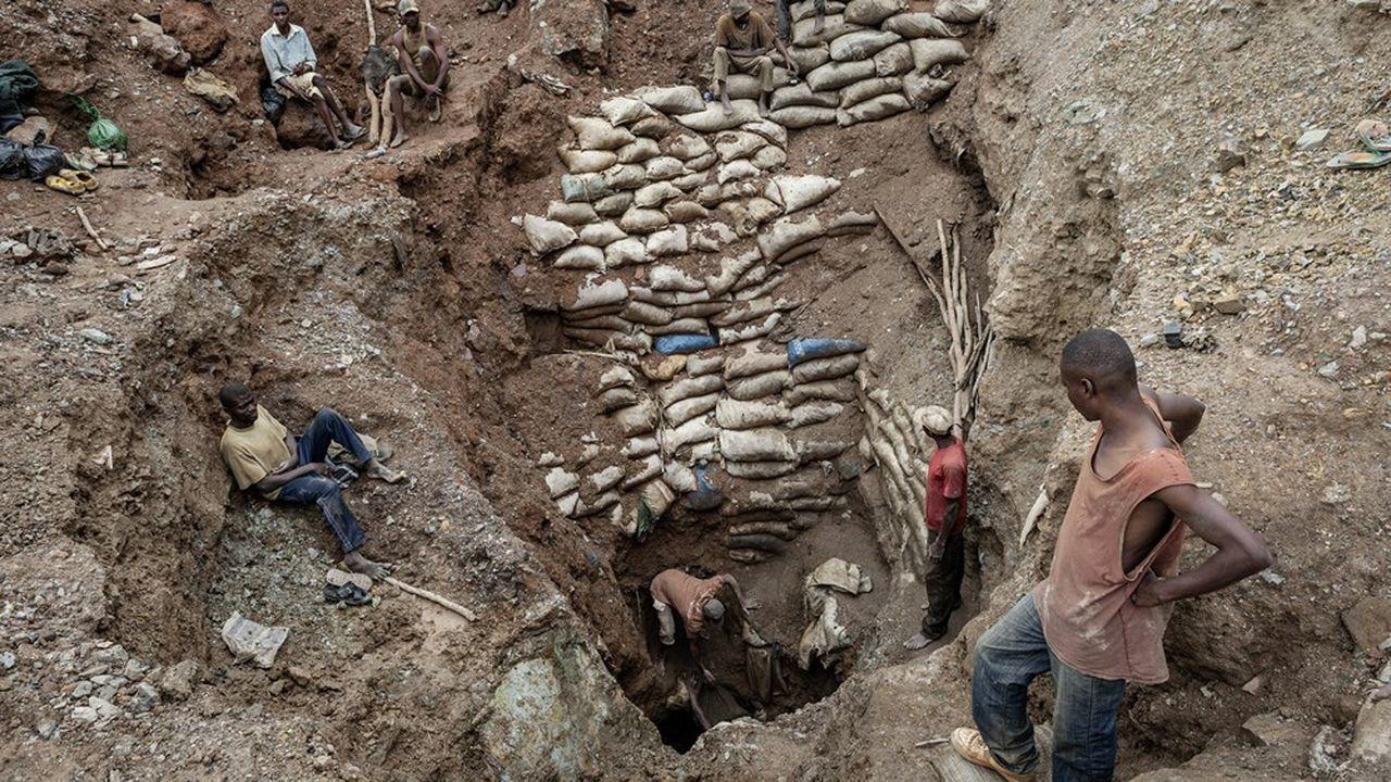 Près d'un tiers du cobalt issu de République Démocratique du Congo a été extrait de mines artisanales.
