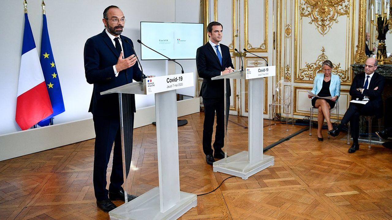 Le Premier ministre, Edouard Philippe, et le ministre de la Santé, Olivier Véran, se sont félicités de la régression de l'épidémie ce jeudi.