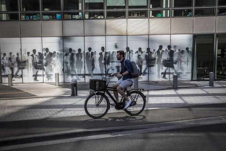 Reportage photo à Bruxelles le 19 mai 2020, en pleine « révolution cycliste » à la sortie du confinement.