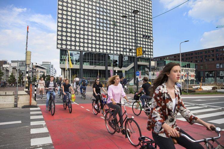 Utrecht, aux Pays-Bas, troisième ville cyclable au monde après Amsterdam, a également pris une longueur d'avance dans l'aménagement de l'espace public (ici en 2017).